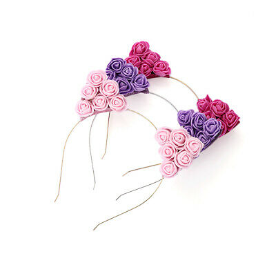 Women Baby Girl Hair Hoop Party Accessories Flower Headband Cat Ear Hairband