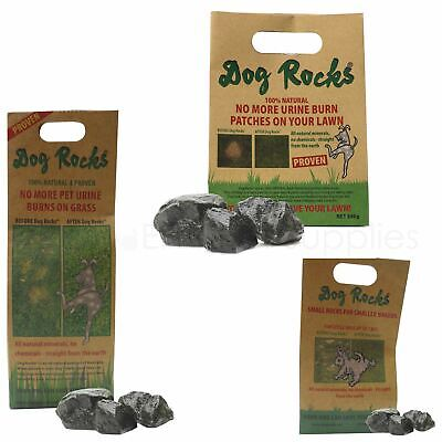 Dog Rocks Stops Pet Urine Marks Lawn Grass Brown Patch Burns 100g, 200g, or 600g