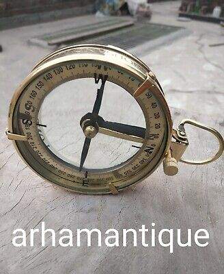 Handmade Solid Brass Working Compass Marine Navigation Astrolabe Compass
