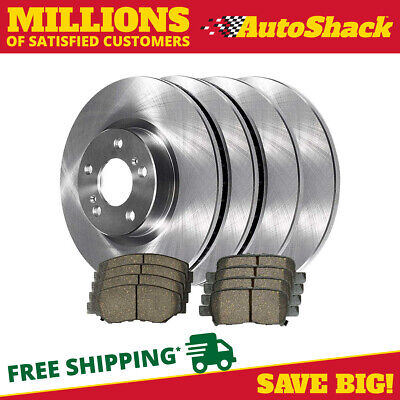 Auto Shack BRAKEPKG123 Set of 4 Drilled and Slotted Rotors with Metallic Pads