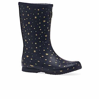 Joules Jnr Roll Up Girls Boots Wellington - Star Gazing All Sizes