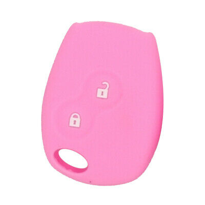 Car Keyless Entry Remote Control Key Fob Case 2 Buttons For Renault Pink