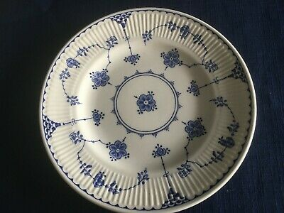 """Furnivals Denmark blue 7 """" side/tea plate (scratches to centre)"""