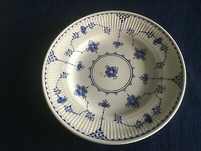 """Furnivals Denmark blue 7 """" side/tea plate (scratches to centre & small stain)"""