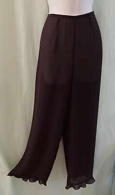 Victoria's Secret Black Semi-Sheer Petti Pants - Lounge Wear - Beach Cover-up -S
