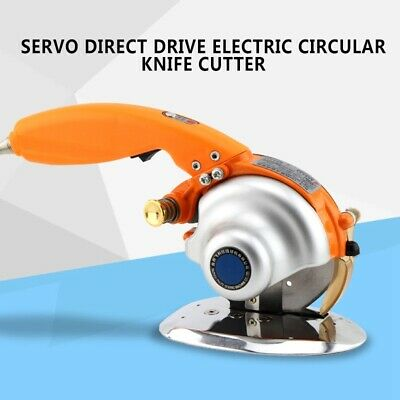 220V Servo Direct Drive Electric Circular Knife Cutter Cloth Fabric Cutting Tool