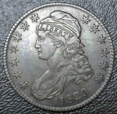 1829 USA - 50¢ HALF DOLLAR - .892 SILVER - Capped Bust  - Gorgeous Coin