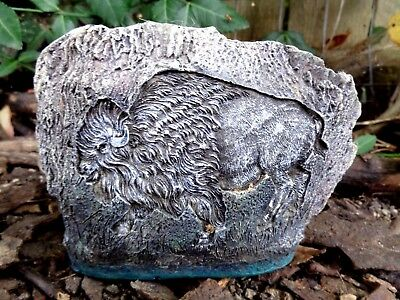 """Latex buffalo rock mold plaster cement casting mould  5.5""""W x 4""""H x 1.5"""" thick"""
