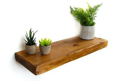 Rustic Floating Shelf Handmade from Reclaimed solid wood | 22cm deep, 5cm Thick