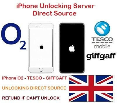 Unlock Code For iPhone 4 4s 5 5S 5C 6 6+ 6S 6S+ SE 7 7+8 8+X O2 Tesco Unlocking