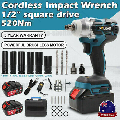 "350N 1/2"" Square Drive Lithium-Ion Cordless Impact Wrench Rattle Gun w/ Battery"