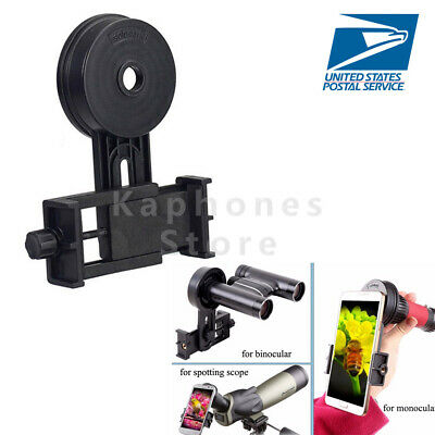 US Cellphone Mobile Phone Support Holder Adapter For Telescope Spotting Scope