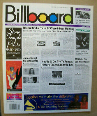 Mar 23 1996 issue Billboard magazine/ 100 pages with articles charts ads photos