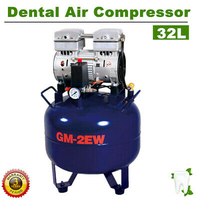 Newest Dental Air Compressor Noiseless Oil-less Oil Free 32L 850W Medical Equip