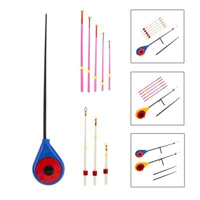 Red Ice Fishing Rod Top Section Winter Fishing Pole Portable Plastic Slag SpoonG