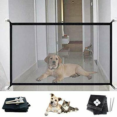 Magic Dog Gate Pet Safety Guard Portable Folding Safe Net Dog Baby Enclosure Hot
