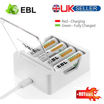 EBL Universal Smart Fast Battery Charger +USB Cable For All Battery Ni-MH AA AAA