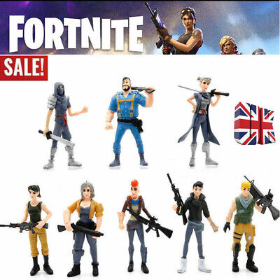 8x Gift Set Fortnite Battle Game Royale Save The World Action Figures Kid Toy UK
