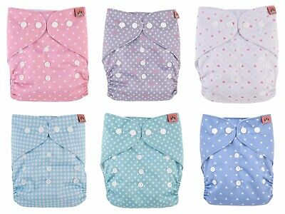 Petit Chateau Cloth Pocket Diapers - Lot of 6 - Brand new, fits 8 - 35 lbs.