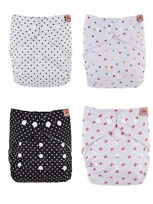 Petit Chateau Cloth Pocket Diapers - Lot of 4 - Brand new, fits 8 - 35 lbs.