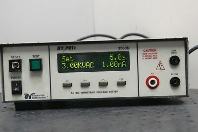 Occ.: Associated Research Hypot II 3560D Digital AC/DC Withstand Voltage Tester
