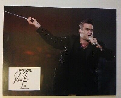 Robbie Williams Autograph Signed 11x14 Display AFTAL [B3785]