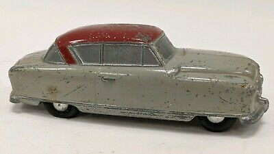 Vintage Banthrico 1950's Nash Metal Bank Promo Car Red Top