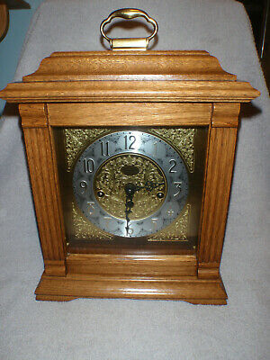 Emperor Mantel Clock 8 Day Key Wound Westminster Chime Beautiful!