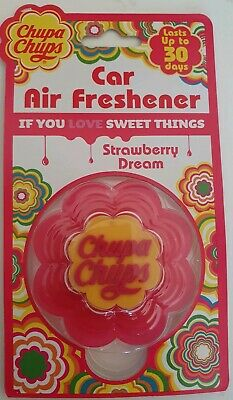 Chupa Chups - Car Air Freshener - Strawberry Dream              *New And Sealed*