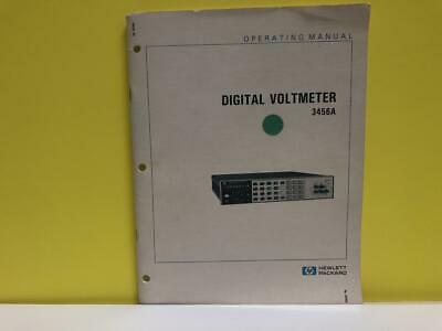 HP 03456-90001 Digital Voltmeter 3456A Operating Manual
