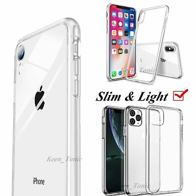 Ultra Clear Case For iPhone 11 Pro Max XS XR X 8 7 Plus Thin Slim Soft TPU Cover