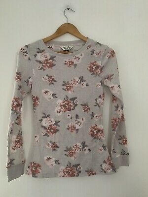 Ladies Pj Top Love To Lounge Grey Long Sleeve Casual Polyester <JS4517