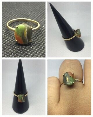 STUNNING ANCIENT SOLID GOLD INTAGLIO BYZANTINE FINGER RING. Ancient Roman .18k