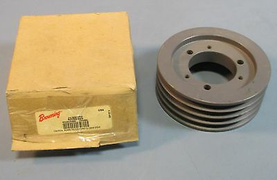 "Browning 43V500SDS 4 Groove 5"" Diameter 2-1/8"" Bore Sheave / Pulley NOS"