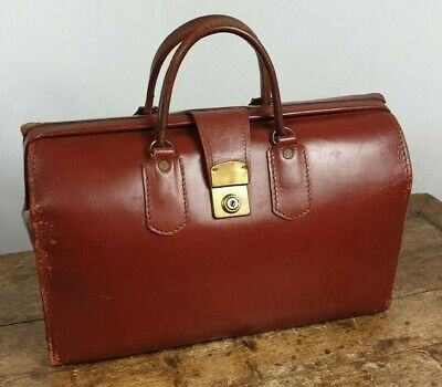 BRIEFCASE BAG ATTACHE CASE LEATHER VINTAGE 1960s MADE ENGLAND