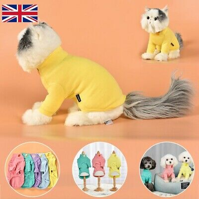 Pet Clothes SWEATER Chihuahua Yorkie Small Dog Coat Jacket Fleece Soft Warm Pink
