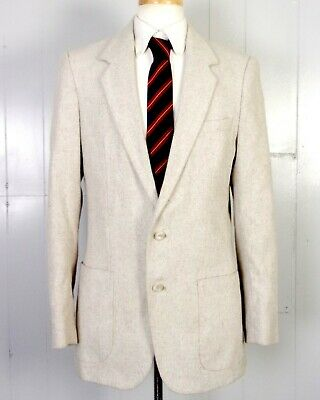 vtg Four/Forty euc Pastel Fleck Herringbone Tweed Blazer Dual Vents 38 L