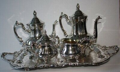 Towle SilverPlate 5 piece Tea / Coffee Service  & FB Rogers Tray