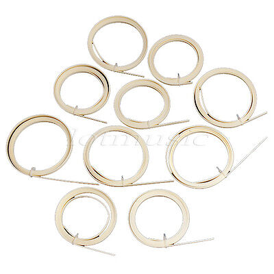 10 Pcs Guitar Binding for Acoustic Parts Purfling White ABS 1650 x 6 x 1.5mm