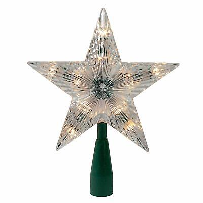 Kurt Adler 9quot; Classic 5-Point Star Christmas Tree Topper - Clear Lights