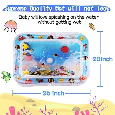 2x Baby Water Play Mat Inflatable For Infant Toddler Fun Tummy time Crawling Kid