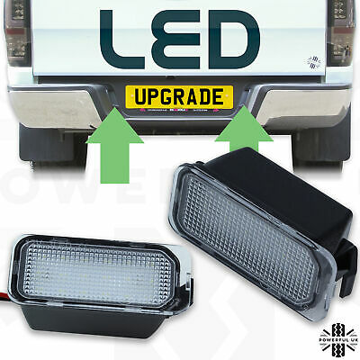 2xLED number plate light upgrade rear bumper for Ford Ranger 2012 T6T7 lamp bulb