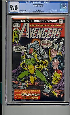 Avengers #135 Cgc 9.6 White Pages Marvel Ultron