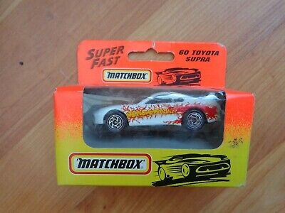 Vintage Matchbox #60 Toyota Supra Superfast Car Diecast Model Boxed