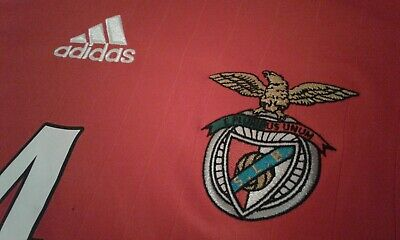 Maglia Shirt Camiseta Adidas Benfica Football  Portugal. Size Large Red Home N°4