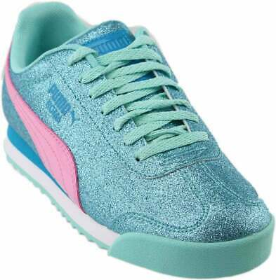 Puma Roma Basic 35425923 Blue Pink White Jr Kids Youth Girls Shoes Sneakers Sizs
