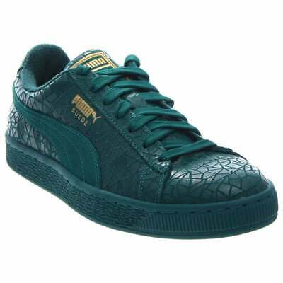 Puma Suede Crackle Sneakers Casual    - Green - Mens