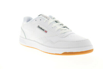 Reebok Club Memt CN8393 Mens White Leather Casual Lace Up Low Top Sneakers Shoes