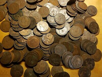 Lot of 50x - British - Large Copper coin - One Penny - Edward VII - 1902 to 1910