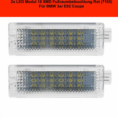 2x TOP LED Modul 18 SMD Fußraumbeleuchtung AUDI A1 8X1 ROT